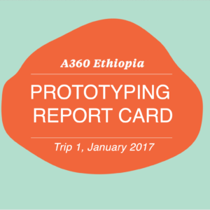 prototyping report card - ethiopia - cover